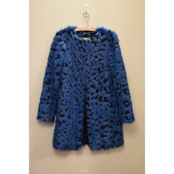 MICHAEL Michael Kors Jackets & Blazers - Blue michael Kors faux fur coat
